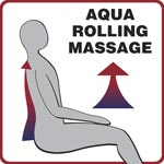 The Aqua Rolling Massage pushes water up the back