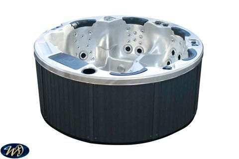 Hot Tub Cardiff 3D , 5 Person , Round , 3 Pumps , step in